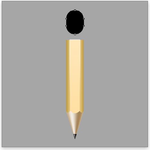 Create the pencil's eraser