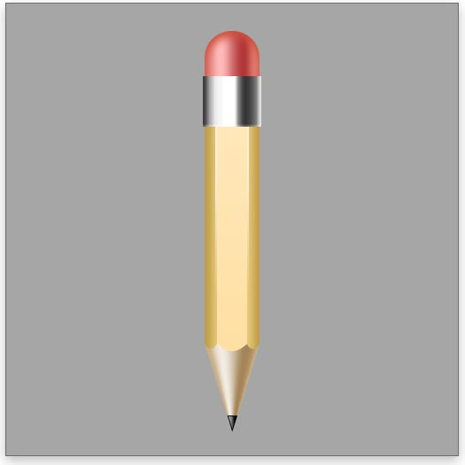 Create the silver band around the eraser