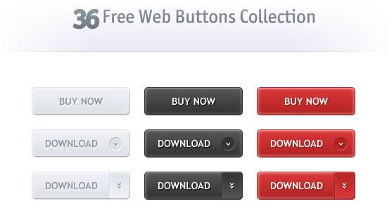 40 Free High-Quality Web Button PSD Downloads