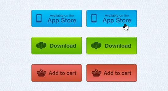 download app button psd