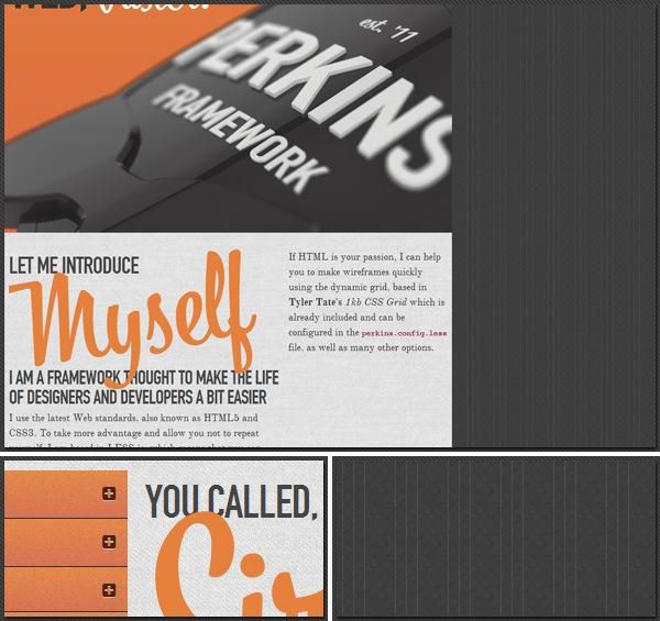 perkins CSS3 LESS Framework