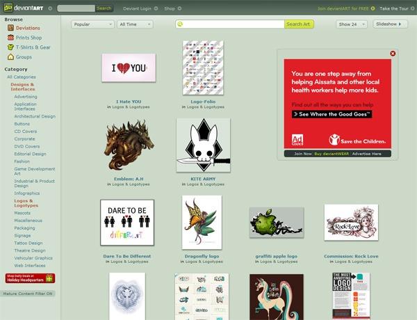 deviantART (Logos & Logotypes)