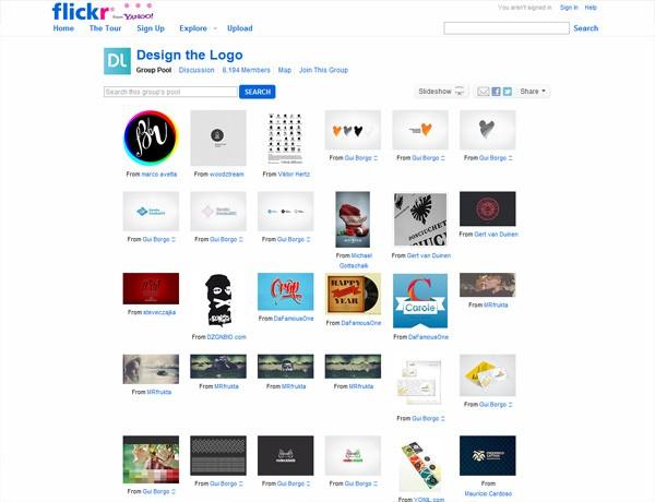 Flickr: Design the Logo