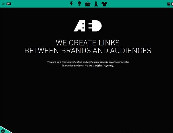 Clean website design example: AED
