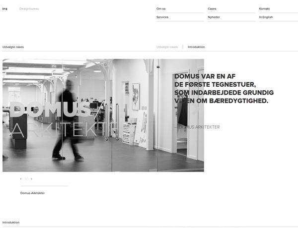 Clean website design example: Front