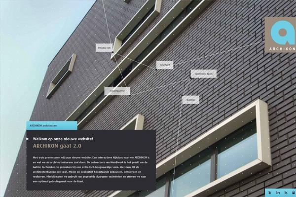 Photo background web design example: ARCHIKON