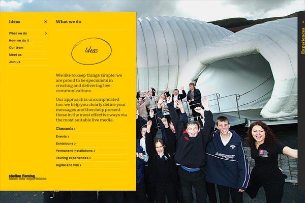 Photo background web design example: Shelton Fleming