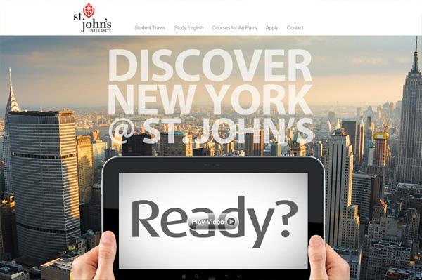 Photo background web design example: St. Johns