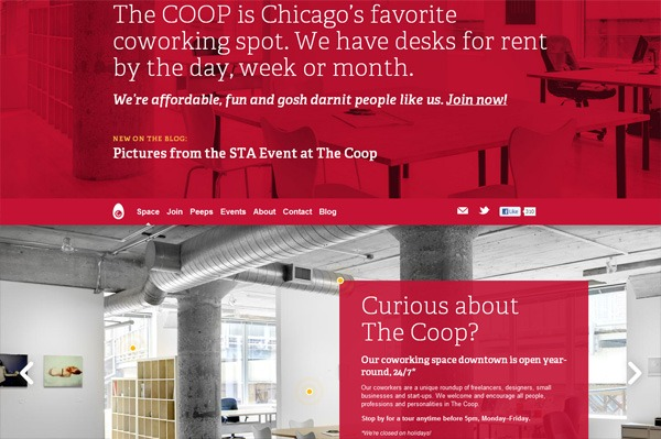 Photo background web design example: COOP