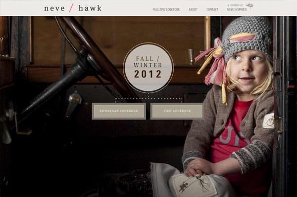 Photo background web design example: neve