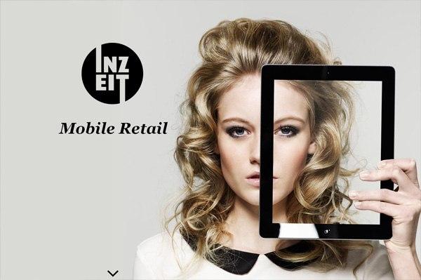 Photo background web design example: Inzeit