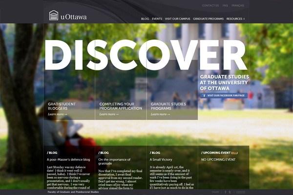 Photo background web design example: Discover uOttawa