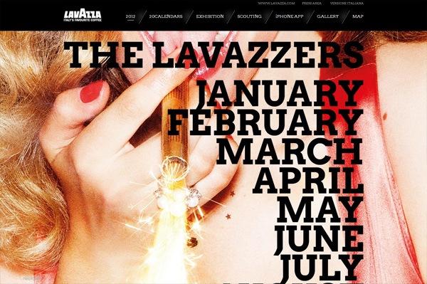 Photo background web design example: Lavazza 20Calendars