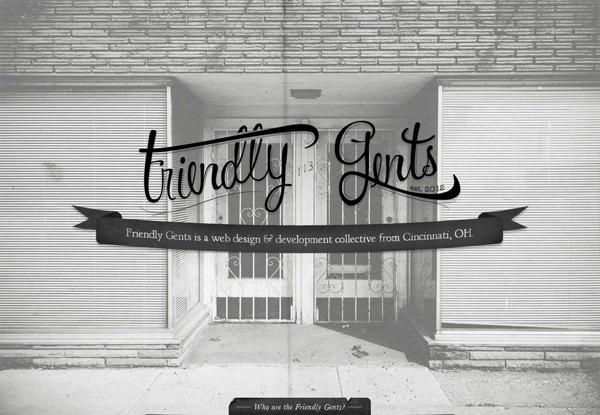 Gray website design example: Friendly Gents