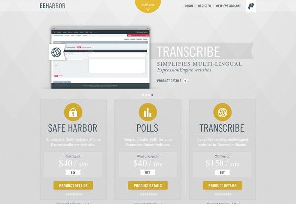 Gray website design example: EEHarbor