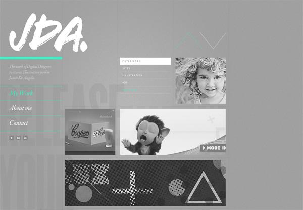 Gray website design example: JDA