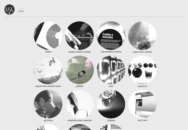 Gray website design example: Mickaël Larchevêque