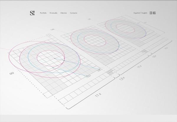 Gray website design example: Smart! Grupo Creativo