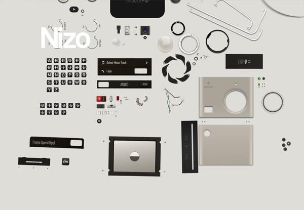 Gray website design example: Nizo