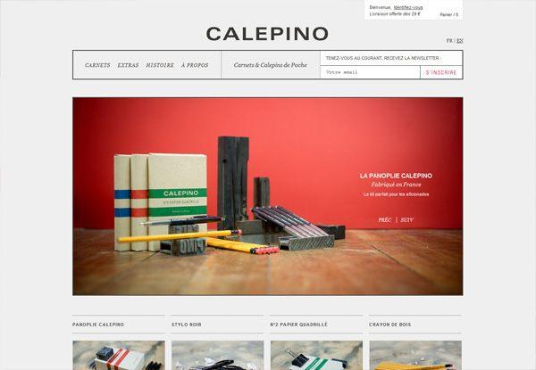 Gray website design example: CALEPINO
