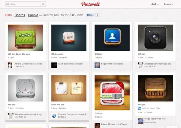 iOS Icon (Pinterest)
