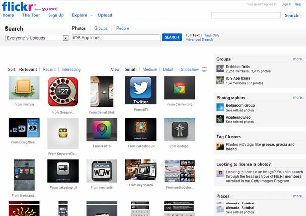 iOS App Icons (Flickr)