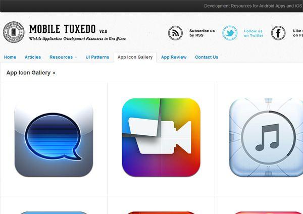 App Icon Gallery (Mobile Tuxedo)