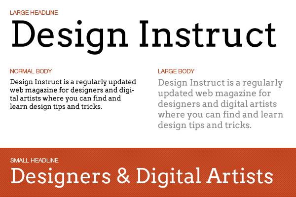Free slab serif font: Arvo