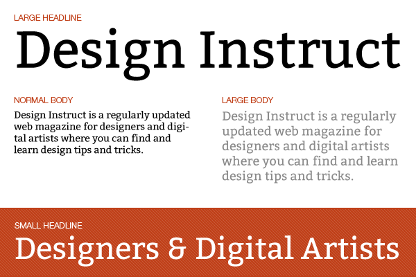 Free slab serif font: Bitter