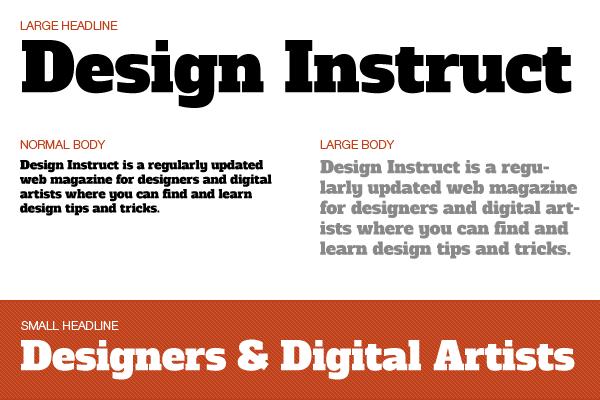 Free slab serif font: Alfa Slab