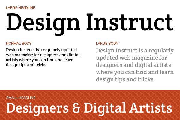 Free slab serif font: Crete Round