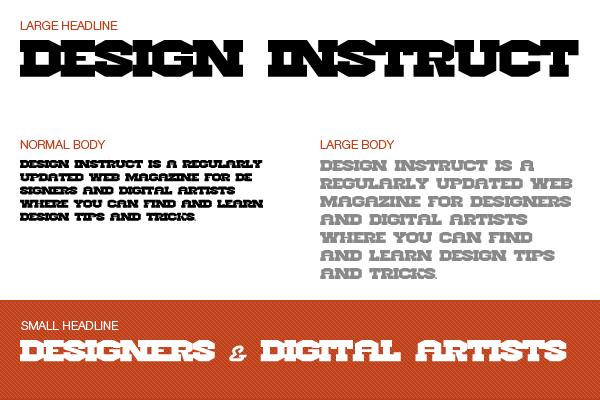Free slab serif font: Hellforge