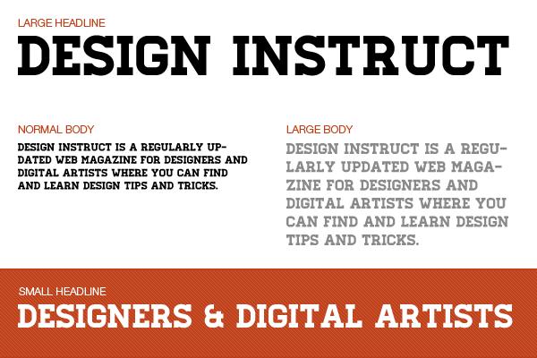 Free slab serif font: Homestead