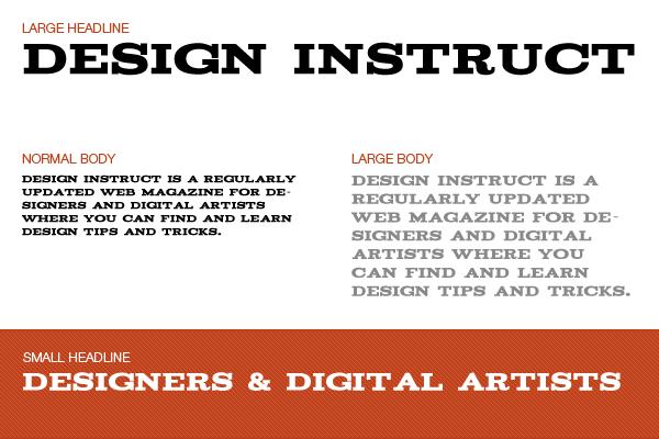 Free slab serif font: Acknowledgement
