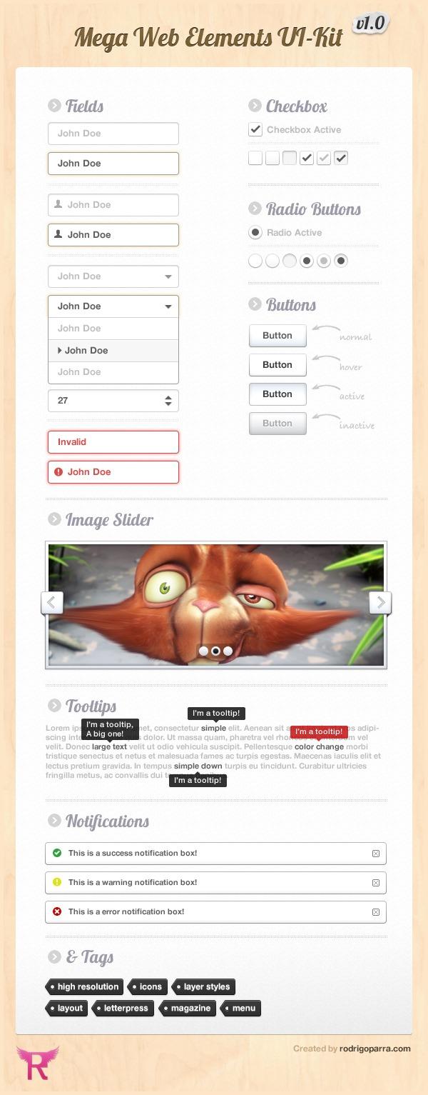 Mega Web Elements UI Kit