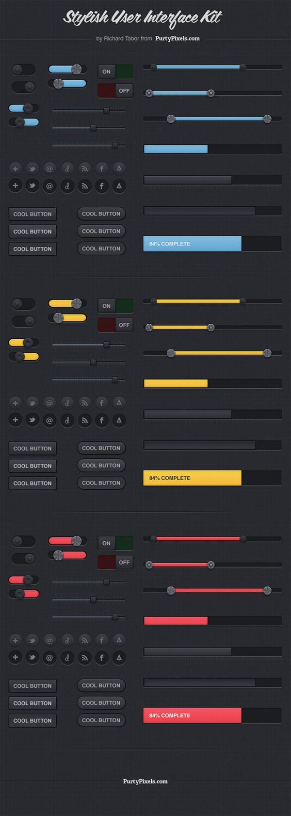 Stylish User Interface Kit (PSD)