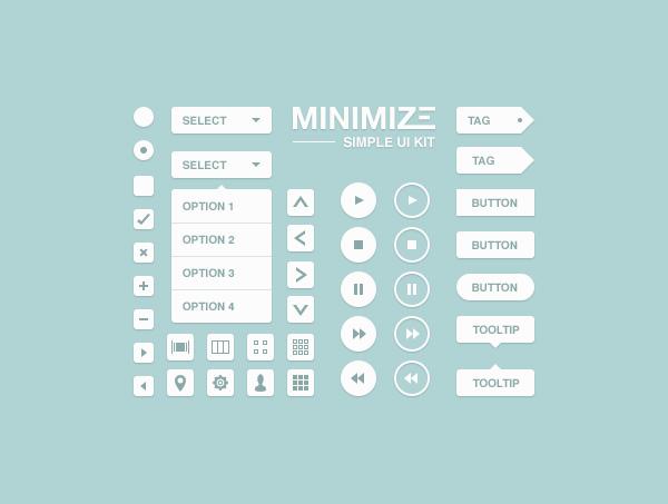 Minimize UI Kit - Free PSD