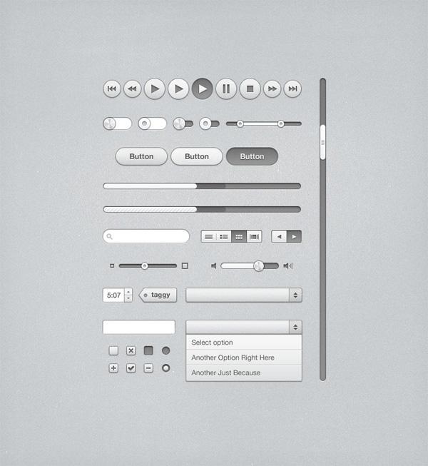 Free PSD: iTunes Inspired UI Kit