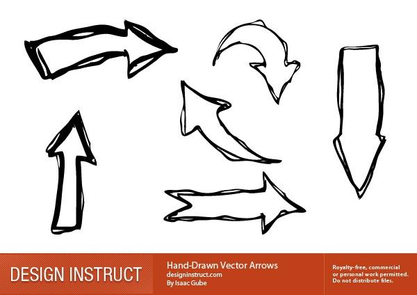 Hand-drawn vector arrows
