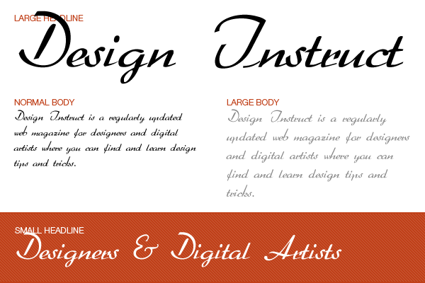 Free script font: Arabella