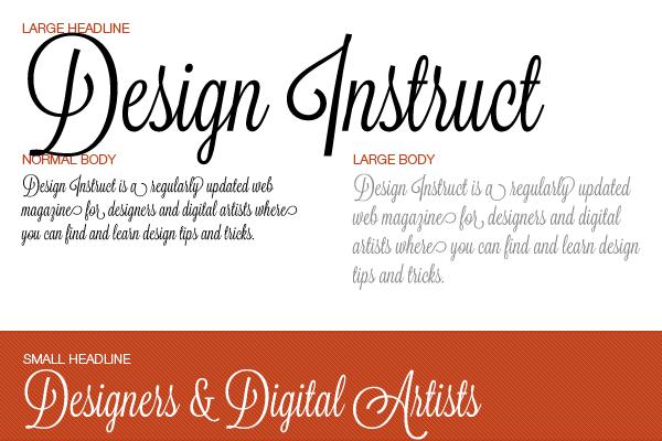 Free script font: Lavanderia