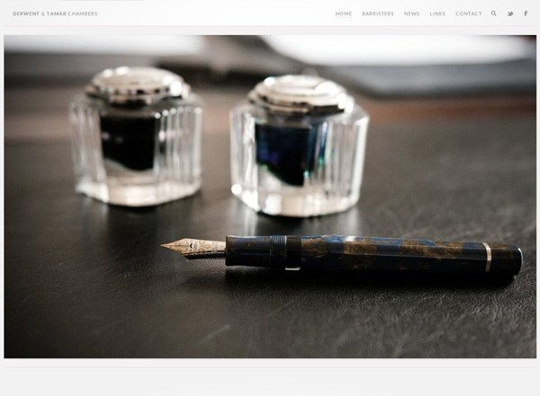 Minimalist website design inspiration: Derwent & Tamar Chambers