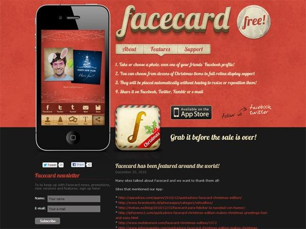 Facecard iPhone App