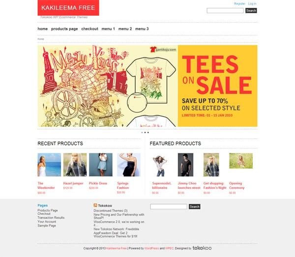 Kakileema Lite (WordPress eCommerce Theme)