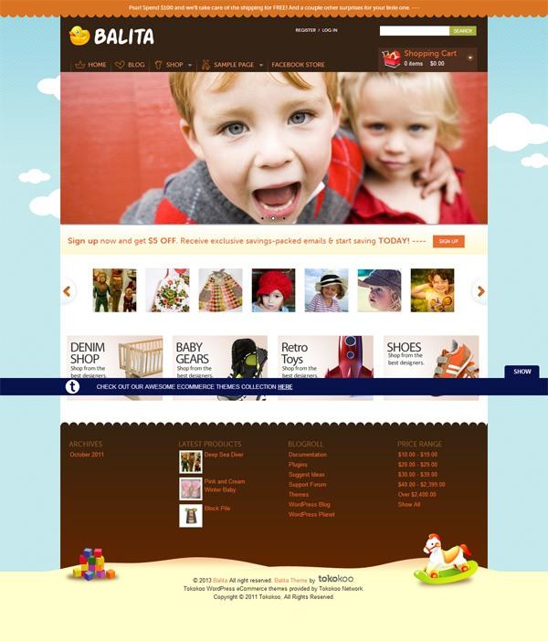 Balita (Free E-Commerce WordPress Theme)
