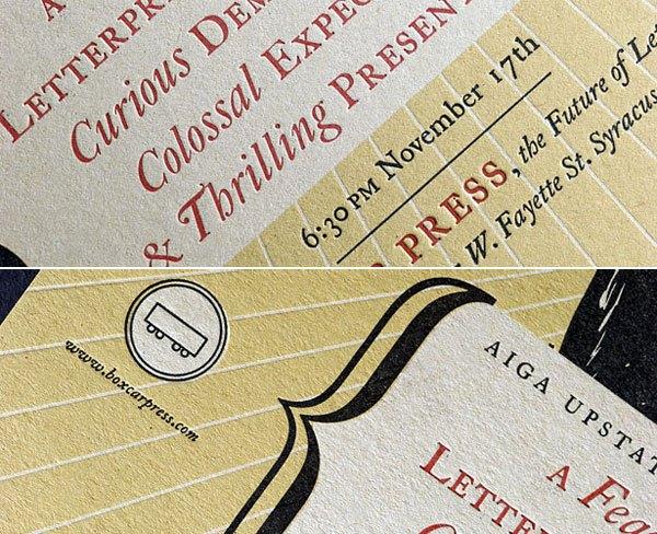 Boxcar Press open studio invitation
