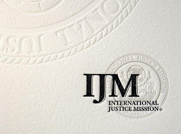 IJM Letterpress Identity C/U