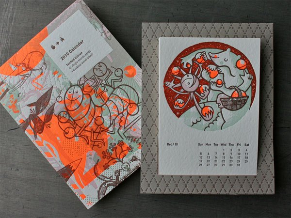 2010 Studio On Fire Letterpress Calendar