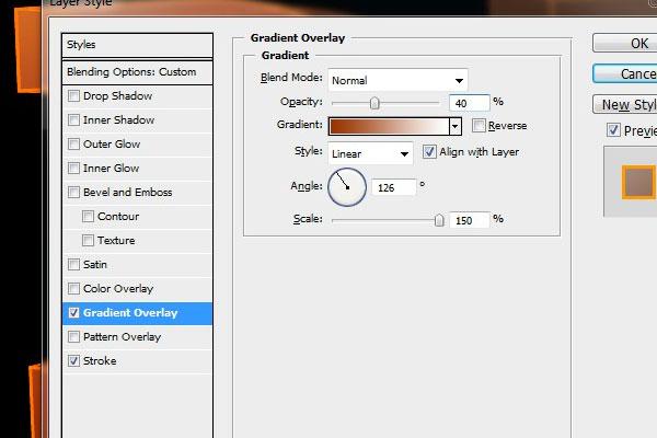 Edit the Gradient Overlays