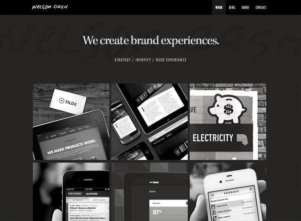 Dark website example: Nelson Cash